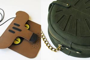 Taschen aus Leder von La Lisette Amsterdam - Monstera Blatt und Panther, auch als Tiertaschen für Kinder