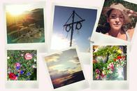 Mittsommer in Schweden, Blumenkranz, Mittsommerstange, Sonnenuntergang Impressionen