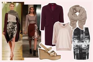 Modetrend der Fashion Week Berlin Herbst/Winter 2015 - Trendfarbe Rot und Beige von Perret Schaad und Bobby Kolade, shop the look, online bestellen, nachkaufen