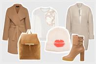 Modetrend im Winter - Farbkombination und Styling mit Mänteln in Camel und Off white sowie Creme und Beige