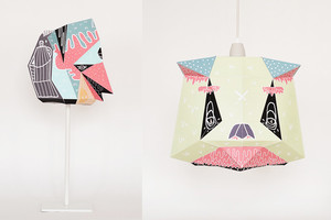 Tierköpfe als Lampenschirme, Lampen aus der Kooperation von Mostlikely und Künstler und IllustratorBoicut