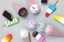 Mr Printables - Papier Schablonen und Vorlagen zum Basteln selbst ausdrucken, Eistüten aus Papier, DIY