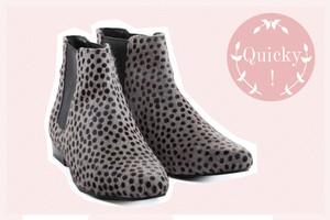 Chelsea Boots von Pepe Jeans in Felloptik, Grau mit schwarzen Punkten online bestelllen