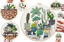 Sarah K Benning Stickereien von Pflanzen und Botanik - Kunst, Wohntrend,