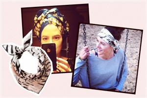 Seidentücher und Foulards für die Haare - Frisuren-Tipps