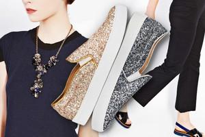Slip-on Sneaker mit Glitter und Metallic-Glitzer von l´autre chose, der Trend im Herbst 2014, sneakers, slipper