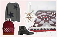 Mode, Wohnaccessoires und Dekoration mit Sternen und Stars online bestellen