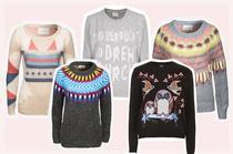 Neu in den Onlineshops, Modetrend Woll- und Strickpullover mit Muster, Intarsien und Jaquard online bestellen