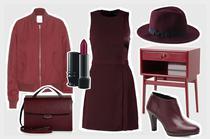 Mode und Wohnaccessoires in der Trendfarbe Marsala online bestellen, Onlineshop, weinrot, bordeaux, Trend 2015