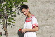 Tunikakleid mit Ethno-Stickerei von Mint & Berry online bestellen , blogger outfit, trend, tunika, skandinavisch
