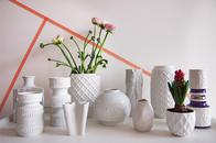 Vasen in Weiß aus Porzellan und Keramik, Vintage oder Design zum Sammeln, onlineshop, online bestellen