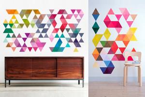 Geometrische Wandtattoos und Fliesensticker von Walll Decals online bestellen, geometrische Formen, portugisische Fliesen, kacheln