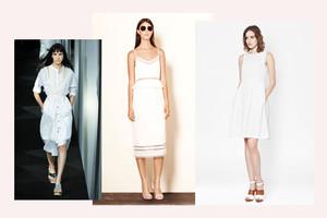 weiße kleider modetrend frühling/sommer 2014