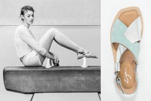 Criss-Cross Sandalen von Zign in Mint und Silber - Den Sommer-Trend online bestellen