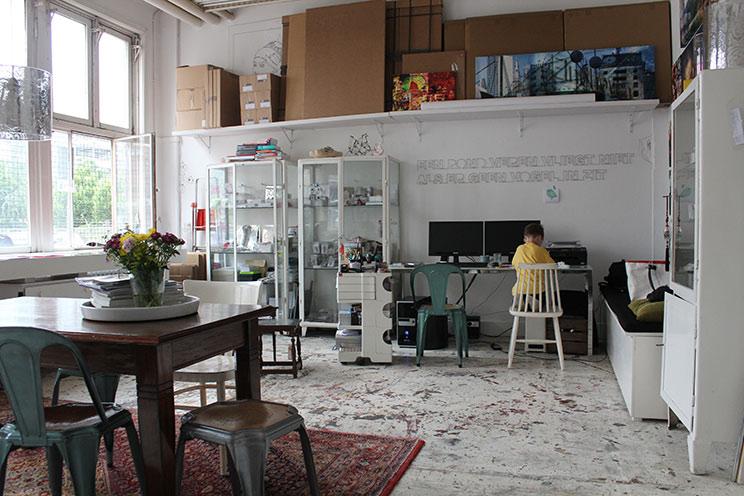 Atelier und Designstudio im Temporary Art Centre in Eindhoven von Produktdesignerin Ulrike Juklies und Mo Man Tai