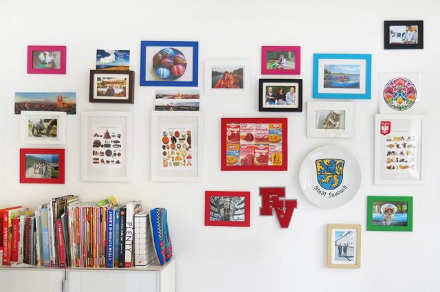 Einrichtung Küche Wandgestaltung Collage Bilder und Bilderrahmen