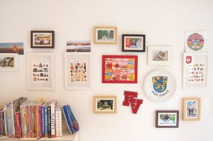 Wandgestaltung und Collagen in Küche mit Fotos und Bildern, Selber machen DIY