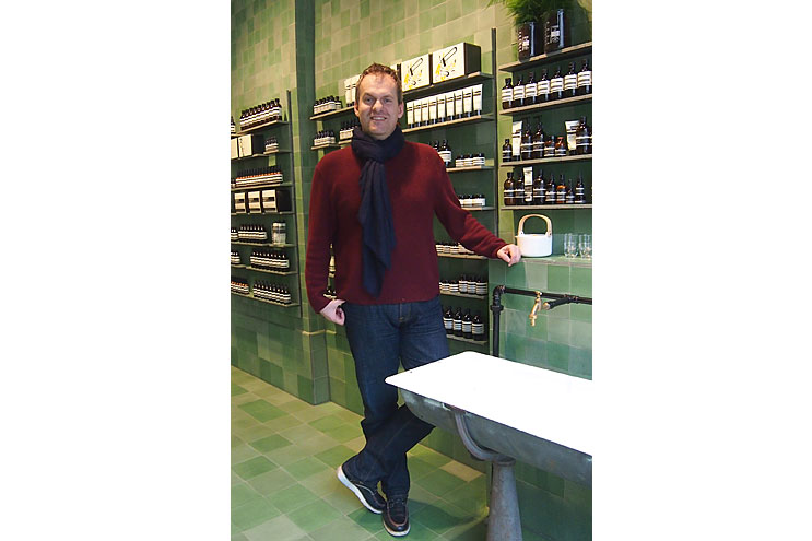 Aesop Country Manager Germany Ralph Edele, Portrait, Berlin Store, Design, Interview