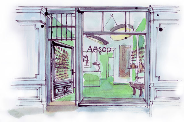 Aesop Store Berlin Alte Schönhauser Straße, Illustration