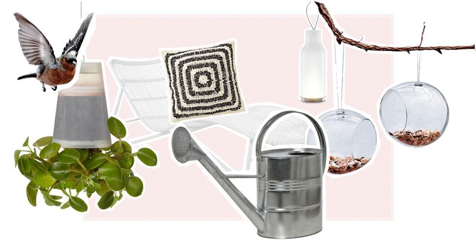 Mait Möbeln und Pflanzen den Garten verschönern