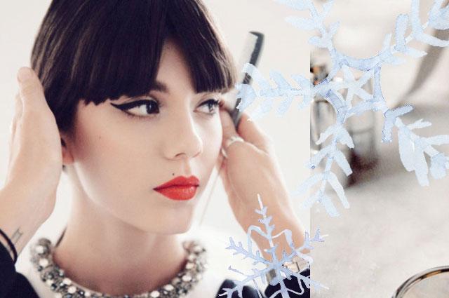 Festliches Make-Up für Weihnachten 2013