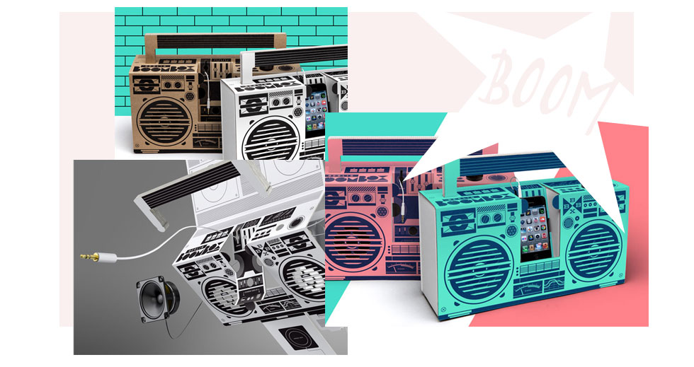 Berliner Label Boombox macht tragbare Lautsprecher aus Pappe