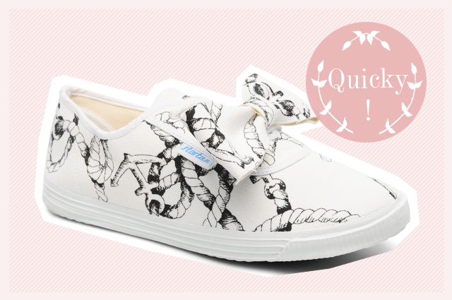 Canvas Sneaker von Startas mit schleife kaufen mit seil print