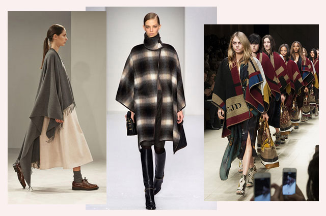 Herbsttrend 2014 Capes aus Wolle