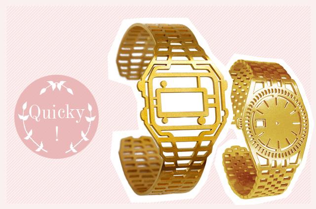 Schmuck von DENISE J. REYTAN - Armreifen als Casio Uhr oder Armbanduhr in Gold, online bestellen, Armband