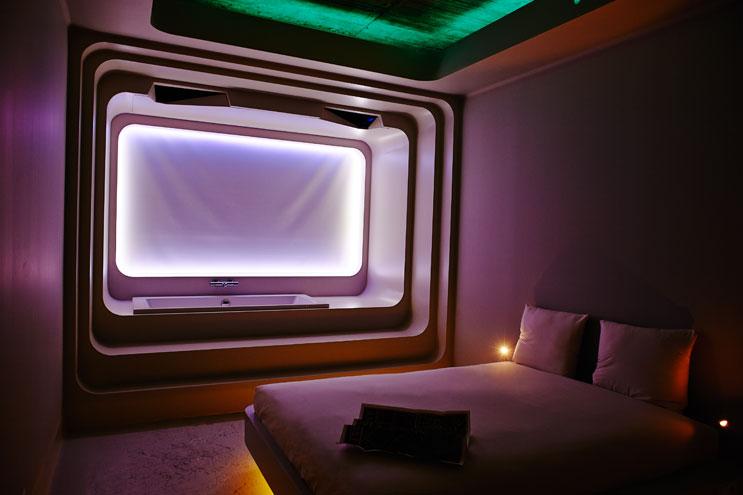 Spaciges Interior-Design im Volkshotel Amsterdam