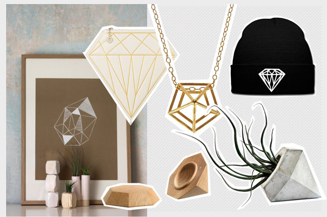Diamanten in Interior Design und Mode online bestellen, Onlineshop