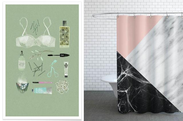 Kunst Im Bad ? Duschvorhänge Von Juniqe Und Noch Mehr Deko-ideen ... Dusch Vorhang Dekorieren Selbermachen