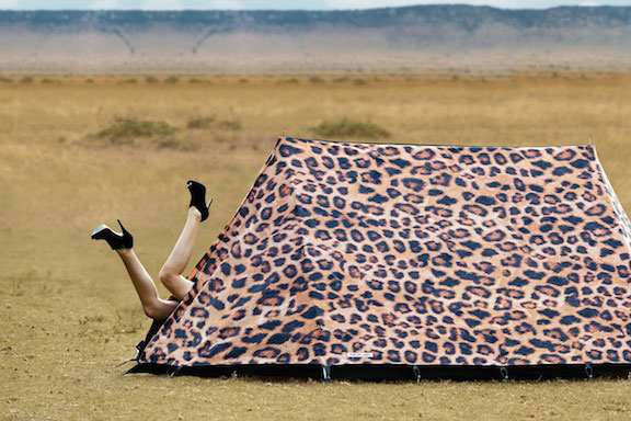 Leoparden-Muster Zelt von Field Candy