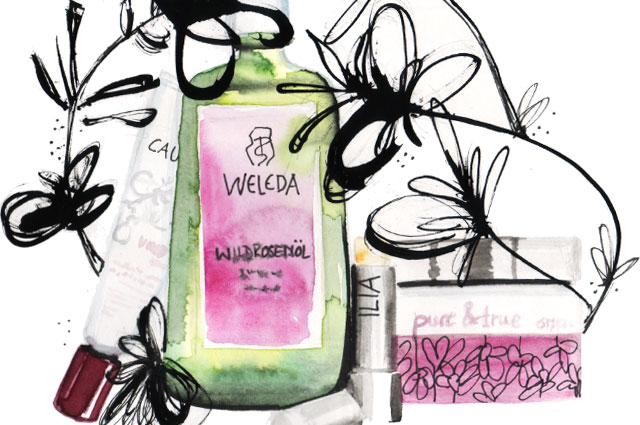 Illustration - Naturkosmetik, green beauty essentials