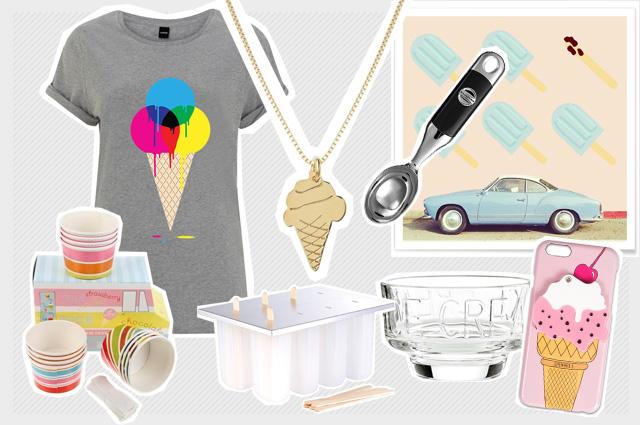 Mode, Interior und Food-Accessoires mit Eiscreme-Motiven, online bestellen, Onlineshop