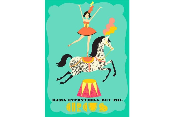 Posterdruck Zirkus - Illustratorin Elisandra Sevenstar aus Berlin - online ausdrucken, Deko, Einrichtung
