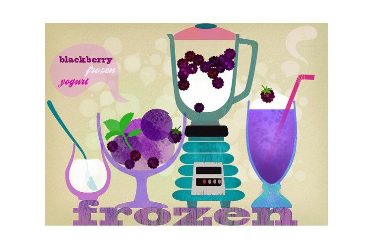 Dekoration für die Küche - Illustration von Illustratorin Elisandra Sevenstar - Kunstdruck, Poster
