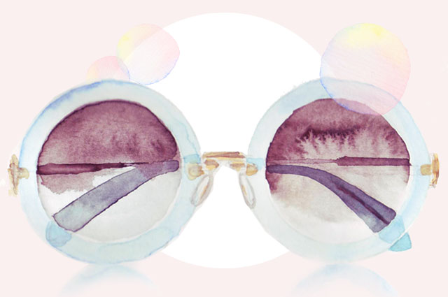 Sonnenbrillen Trends im Sommer 2014 - Illustration