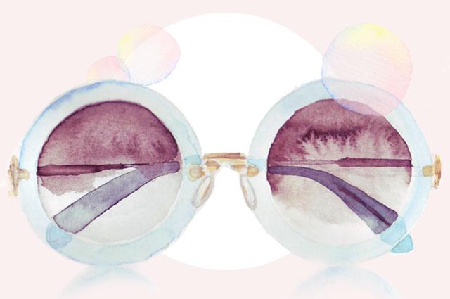 Sonnenbrillen Trends im Sommer 2014 - Illustration