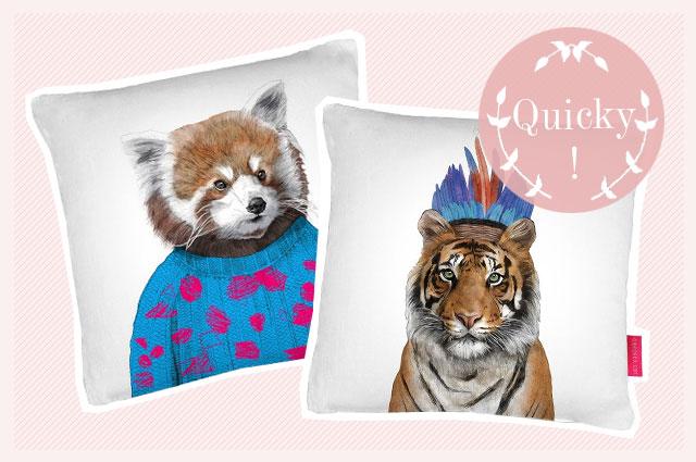 Interior Label Ohh Deer mit Tierkopf-Motiven