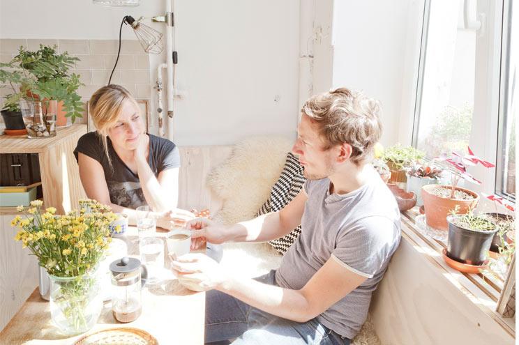 Lea Korzeczek und Matthias Hiller vom Interior und Architekturbüro Studio Oink