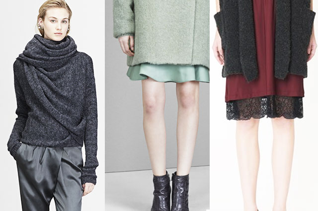 Modetrend 2014 - Lingerie in Kombination mit Strick