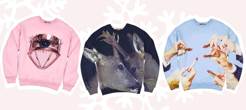 Sweatshirts mit Print von MSGM und Toiletpaper
