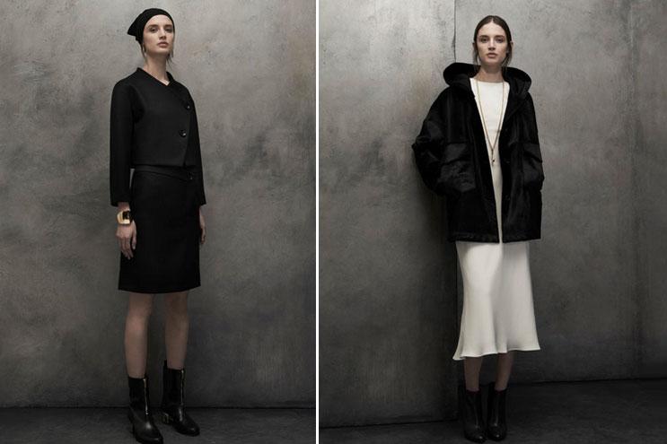 Schwarzes, modernes Kostüm von Modelabel Maiyet in der Kollektion 2014