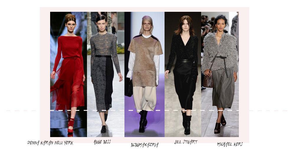 Röcke auf Wadenlänge Trend herbst winter 2014 15 new york fashion week