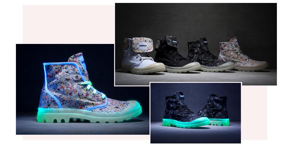 Palladium Hi Atmos F Sneaker in Neon