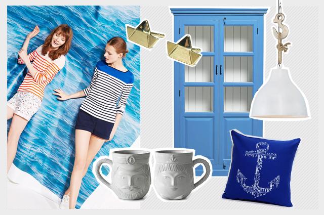 Petit Bateau und maritime Wohnaccessoires für den Frühling online bestellen, Onlineshop, Bretonstreifen, french chic