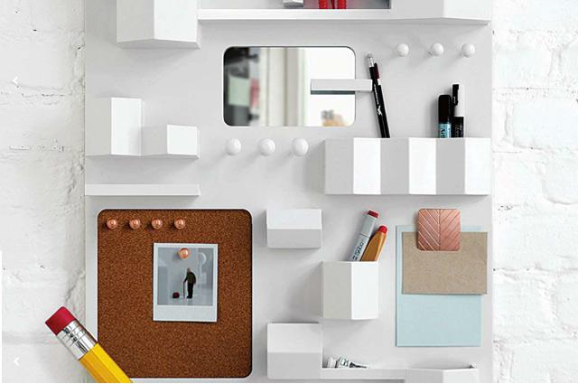Utensilo Suburbia von Seletti in Weiß oder Holz, Interior, Büro, Aufbewahrung