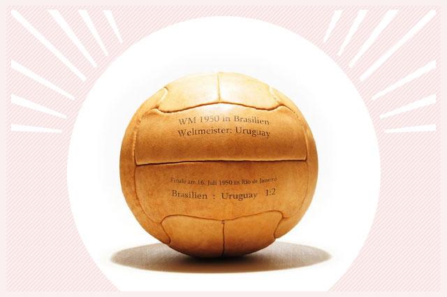 WM Leder-Fußball Uruguay Weltmeister