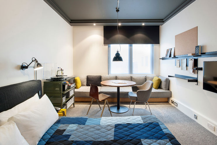 design zimmer ace hotel shoreditch london, betten groß